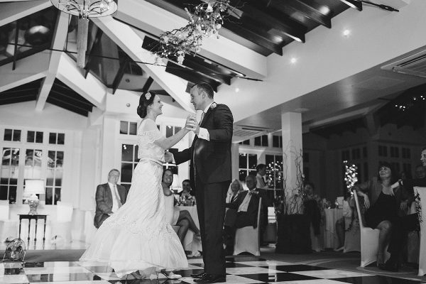 Bride and grooms first dance at Swynford Manor