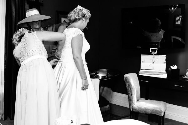 Bride preparing for her wedding day