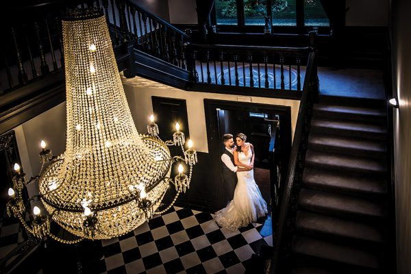 There are many opportunities for wedding pictures inside and outside at Swynford Manor