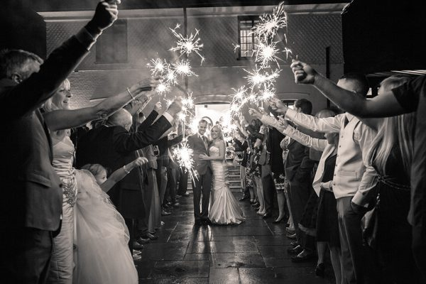 Put wedding sparklers on your wedding checklist for some evening fun with your guests