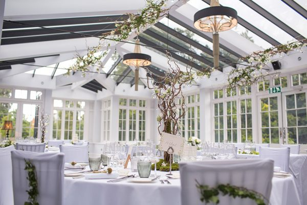 The beautiful Garden Room at Swynford Manor is perfect for all wedding themes