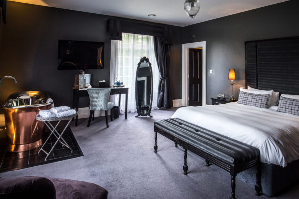 Wedding guests can spend the night at Swynford Manor in one of the boutique bedrooms