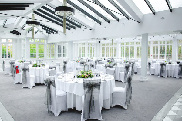 Swynford Manors' Garden room is the ideal space for a wedding breakfast